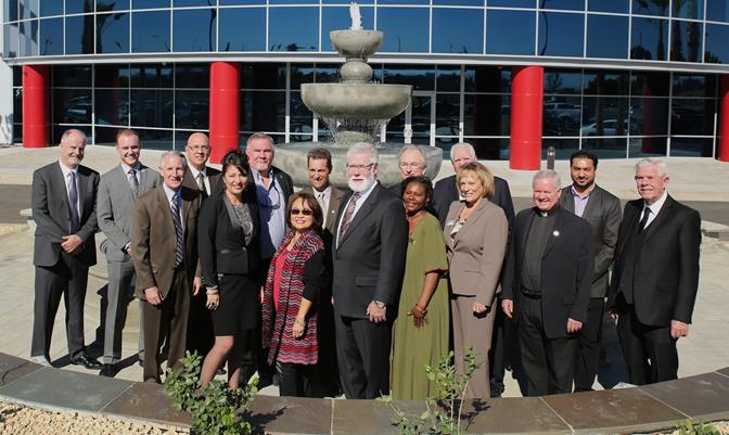 City, county and state representatives join Morton executives for a photo outside of Morton's new facility in the Lancaster Business Park. (Photo courtesy city of Lancaster)