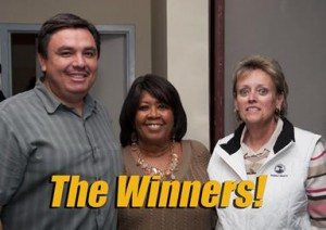In the biggest upset of the election, Juan Carrillo, Joyce Ricks and Nancy Smith ousted the three incumbents in the Palmdale School Board race. (Photo by Calvin Robinson.)