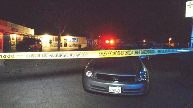 The shootout happened around 7:17 p.m. Wednesday, Nov. 27 at 36153 Sierra Highway. (Photo by LUIS MEZA)