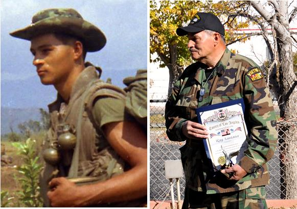 Ray Santana, U.S Marine Corps, Vietnam. In April 1969, Santana was shot by a sniper and received another combat injury before he was medevaced from the jungles of Vietnam. His medical records were lost, and for several years, there was nothing on record to prove that Santana was a combat Marine in Vietnam. Finally, in 2004, copies of his medical records were found and he was hospitalized and diagnosed with Post Traumatic-Stress Disorder (PTSD). Read Ray Santana's story here.