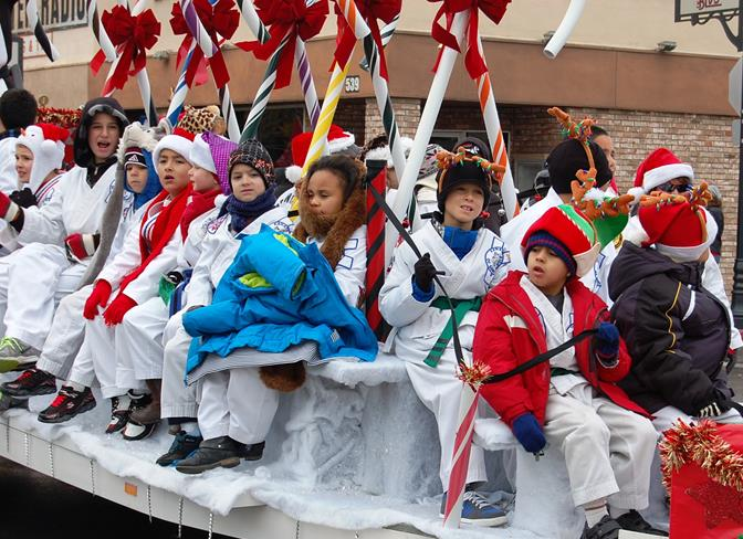 The kids from ATA Martial Arts (#88) won for BEST FLOAT (over 31 ft).