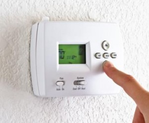 You can conserve energy by lowering your thermostat by three to five degrees.