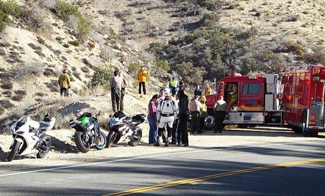 The crash happened just south of Mt. Emma Road. (Photo by JOHN MEZA)