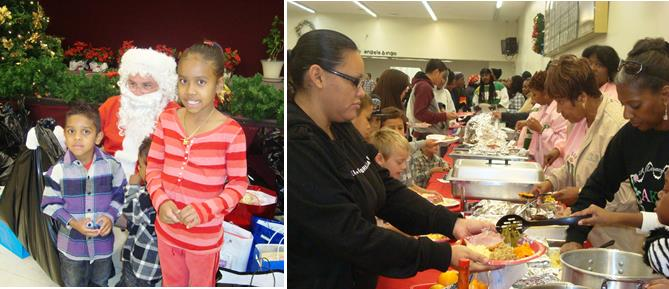 Last year's event featured Santa Claus giving away presents and a complete holiday meal. Organizers are hoping the community can pitch in to make this year's event a success, as well. (Contributed photo)