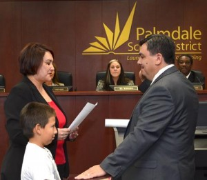 New PSD Board member Juan Carrillo is sworn in Dec. 10. (Tom Llewellyn)