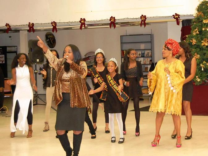 "Yolanda Walker sang a rousing rendition of ""I'll Take You There."" During her performance, she was joined by the AV's community queens and event organizers Waunette Cullors and Laneay London."