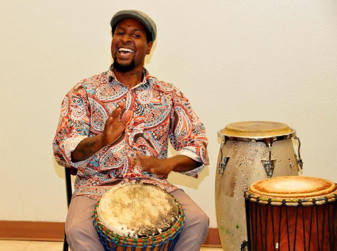 The sound of rhythmic drum beats filled the air throughout the event.