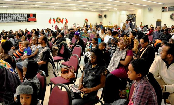 The event packed the room at the United Desert Charities (2101 East Palmdale Boulevard).