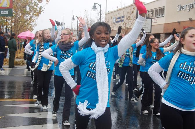 About 20 minutes into the parade, the rain came down. But the rain didn't stop the show for members of Dance Magic!