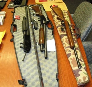 A concerned citizen reported that three suspicious males were walking down J-10 weapons. (Courtesy LASD)
