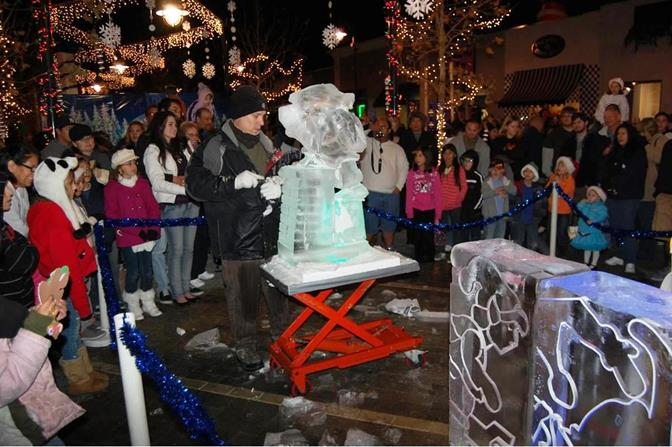 The event takes place on The BLVD, between Beech and Genoa Avenue. A live ice sculpting demonstration is just one of many highlights planned.