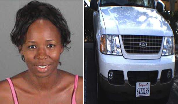 39-year-old Nisshawn Murphy is accused of abducting her 10-year-old son from a Palmdale foster home on Monday, Dec. 2. She is believed to be driving a Ford Explorer, California Plate #6VZX199. (Photos courtesy LASD)