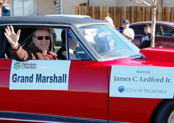 Palmdale Mayor Jim Ledford served as Grand Marshal of the parade.