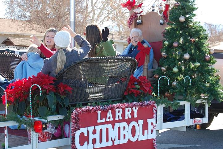 Palmdale's first mayor Larry Chimbole also took park in the parade.