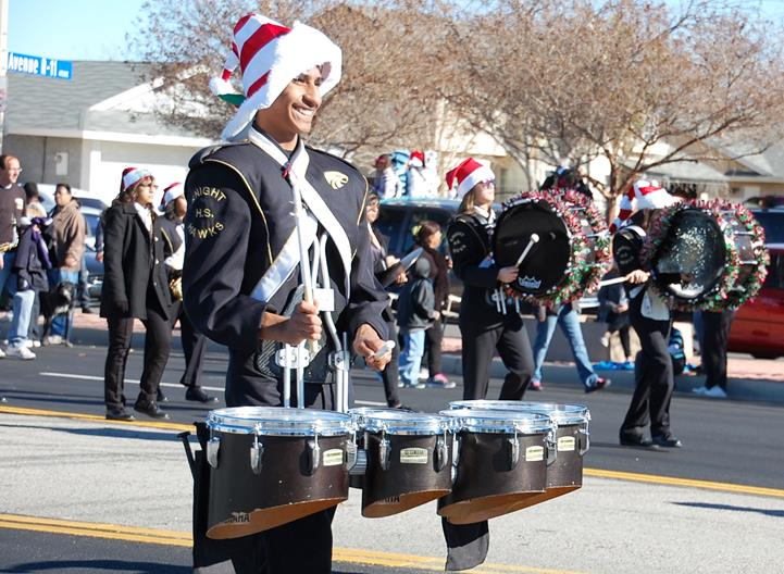 "The William J. ""Pete"" Knight High School marching band was the first of several marching bands that participated in the parade."