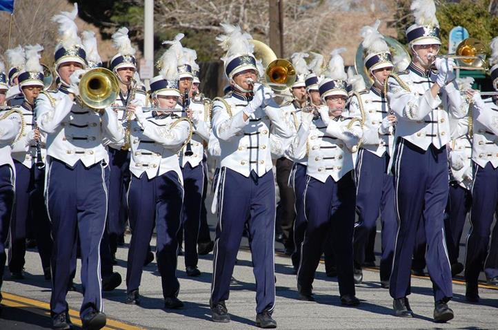 The Quartz Hill High School marching band made an impressive showing.