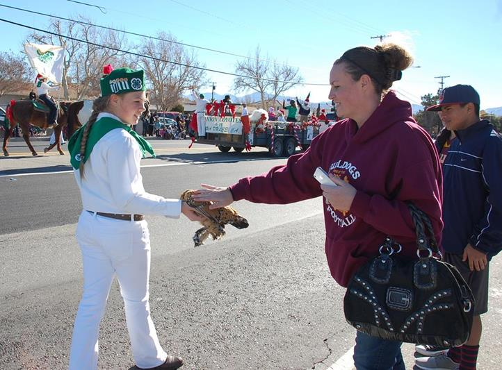 The 4-H club was a hit with animal lovers along the parade route.