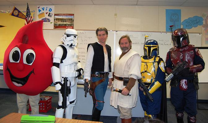 A highlight of the event was a visit from Star Wars characters in full costume, who spoke to students about their day jobs.