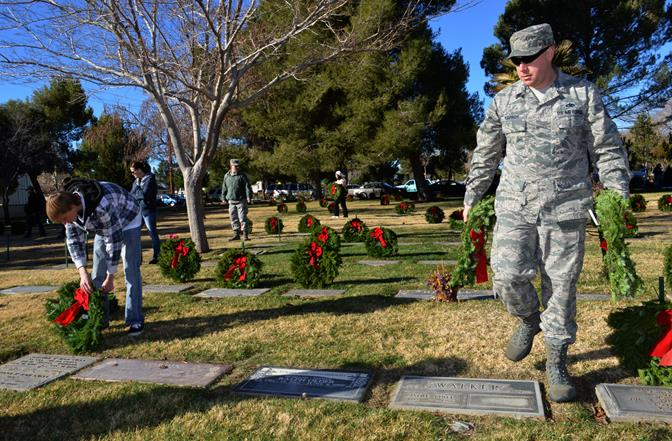 The local Wreaths Across America ceremony took place Saturday at Lancaster Cemetery. (All photos by TOM LLEWELLYN)