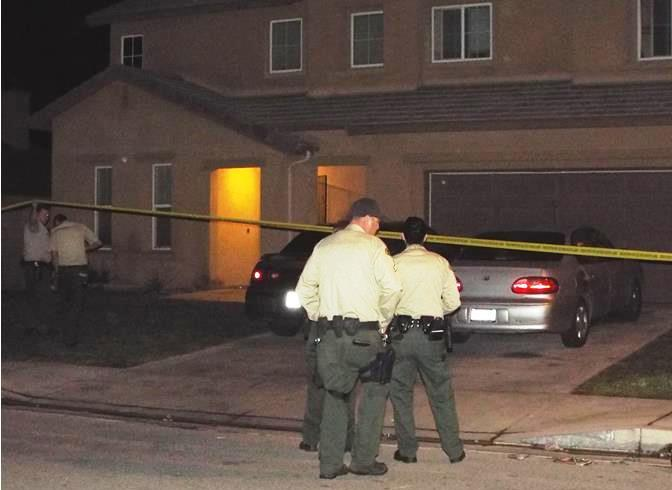 The shooting happened around 11:35 p.m. Wednesday, Jan. 29, at a home near Elm Avenue and Avenue H-13 in Lancaster. (Photo by LUIS MEZA)