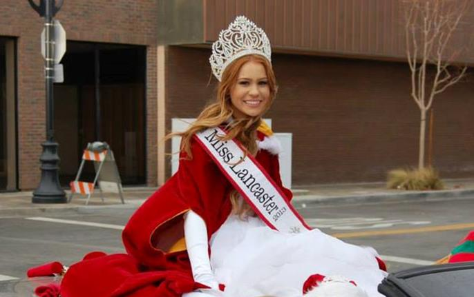 "Miss Lancaster Kelsey Evenson took part in the Lancaster's ""Star-Spangled Holiday"" parade on Dec. 7. Four days later, Evenson appeared at the Palmdale Sheriff's Station jail for a judge ordered 'booking and release"" stemming from a petty theft conviction."