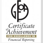 Palmdale awarded for 'Excellence in Financial Reporting' by GFOA