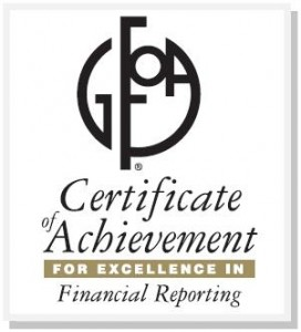 Palmdale Financial Reporting Award