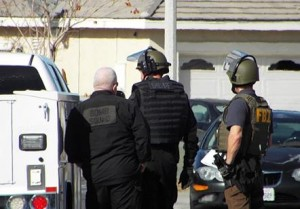 The FBI and bomb squad were called to the scene. (LUIS MEZA)