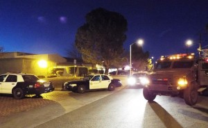 The incident lasted about five and a half hours and ended without an arrest. (JOHN MEZA)