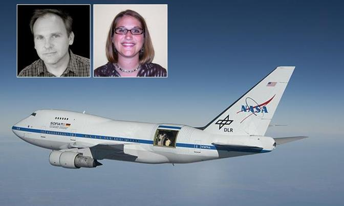Science teacher Dan Molik and STEM teacher Megan Tucker were two of only 24 educators, nationwide, selected for the 2014 Airborne Astronomy Ambassadors program.