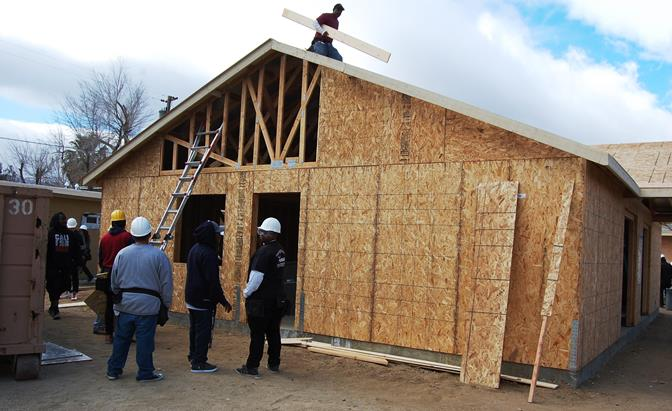Dozens of Antelope Valley YouthBuild students and alumni were working Thursday   at the program's  Supportive Housing Site, located at 38518 5th Street East in Palmdale.