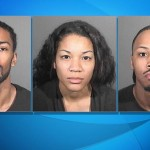Mahealani Austin, Brooke Hollins and Marcus Robinson. (Booking photos courtesy LASD)