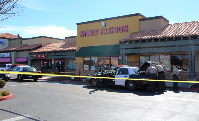 The incident happened at Family Fashion, located at 1026 East Avenue J in Lancaster. (TONY CHEVAL)