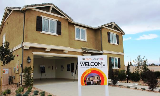 KB Home's 'Double ZeroHouse 2.0' at Dawn Creek is now open in Lancaster. (Photo courtesy city of Lancaster.)