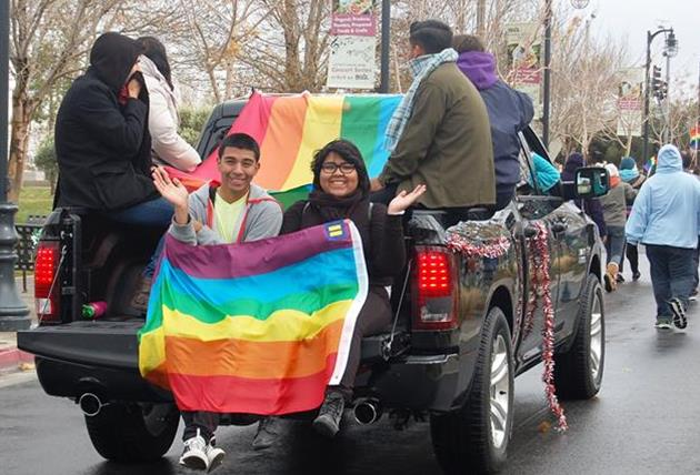 "The OUTreach Center provides support and services to the local LGBTQ community and has been actively involved in the Antelope Valley community since 2011. The group took part in Lancaster's ""Star-Spangled Holiday"" parade on Dec. 7."