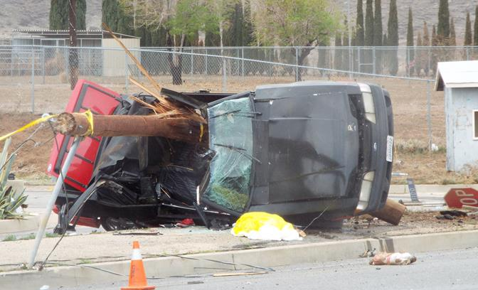 The fatal collision happened on Avenue S at Tovey Avenue. (Photo by LUIS MEZA)
