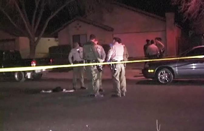 The incident occurred at a house party in the 3500 block of Avocado Lane in Palmdale. (Photo by ED FROMMER)