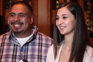 Oswaldo Gonzalez and Jazmin Petty.