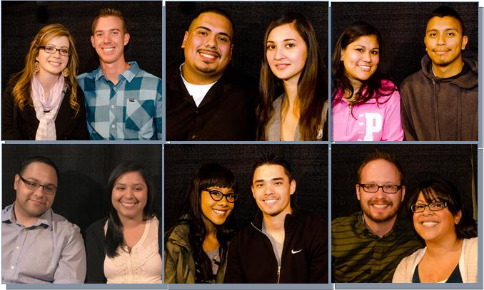 (Top L to R) Karly Koeb and Steven Tremlin; Jazmin Petty and Oswaldo Gonzalez; Claudia Lopez and Jonathan Solorzano. (Bottom L to R) Debbie Ponce and Hector Alvarado; Trinity Porter and Scott Stevens; Amanda Rodriguez and Robert Cook. (Photos by KYOSHI BECKER)