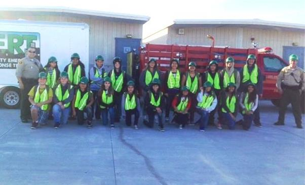 "Twenty-three local middle schoolers were selected  for the third ""Teen CERT"" class. The students showed up 15 minutes early for every session and were extremely eager to learn the material, according to course facilitator Deputy Dale Lovvik. (Photo courtesy LASD)"