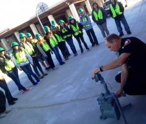 The course was hands on, allowing the students to experience every exercise while being taught. (LASD)