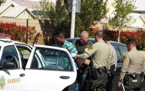 The four occupants in the BMW were taken into custody.