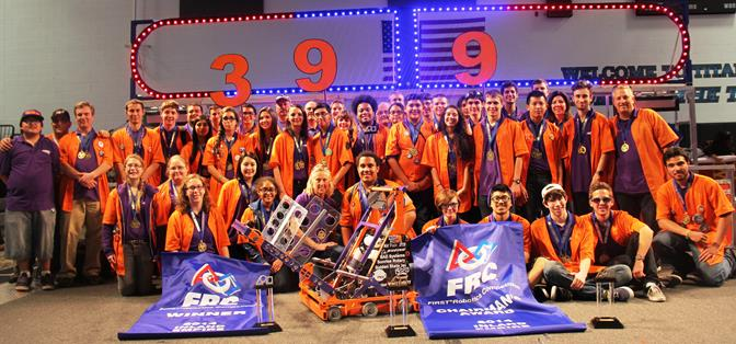 FRC Team 399, Eagle Robotics won both the regional competition and the Chairman's Award at the Inland Empire FIRST Robotics Competition Feb. 28 to March 2. (Contributed photos)