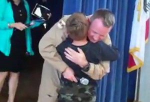 Kevin Van Stone last made local news when he surprised his son, Austin, Meadowlark Elementary in March. Read more about that emotional reunion here.
