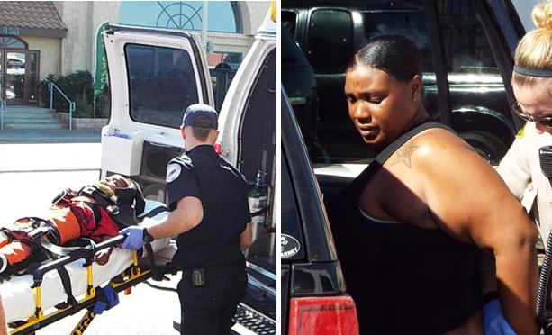 A pregnant Michelle Fletcher was arrested Feb. 21 for assaulting her boyfriend's 2-year-old son in public. The boy was airlifted to the hospital, where he remained until March 6. (Photos by LUIS MEZA)