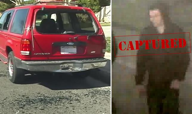 On Feb. 22, pellet gun-wielding vandals shot out and shattered the windows of dozens of vehicles in Lancaster, including this Ford Explorer. One of the alleged vandals (Koty Jewkes) was caught on surveillance video, and he was arrested this week, authorities said.