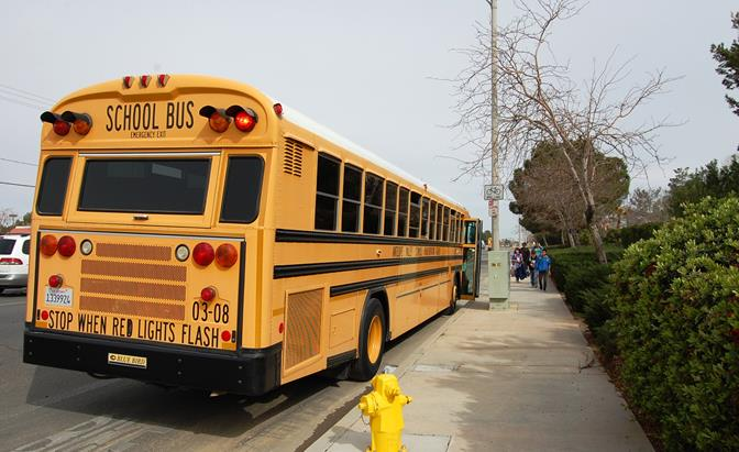 A traffic enforcement operation Tuesday focused on the drop off and pick up points along the school bus routes for six local schools.
