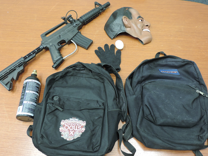 These items were found in the teen suspects' vehicle, leading deputies to believe that other prior incidents may have had occurred, officials said. (Photo courtesy LASD)