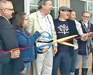 Jimmy Lu (3rd from right) at the Feb. 2014 ribbon cutting for Gabriel's House.
