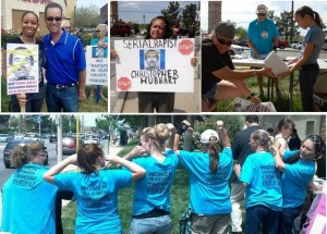 A Community Rally April 19 organized by the Ladies of Lake LA drew more than 1,000 supporters.